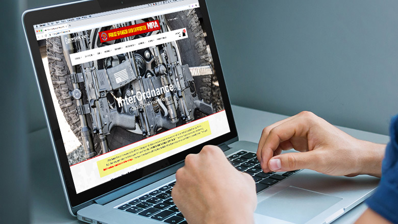 Person looking at an NRA site on their computer